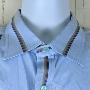 Robert Graham Shirt Size XXL Button Up Flip Cuff
